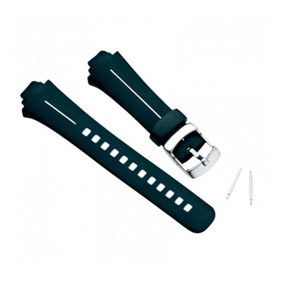 Suunto X6 HR M armband, svart elastomer