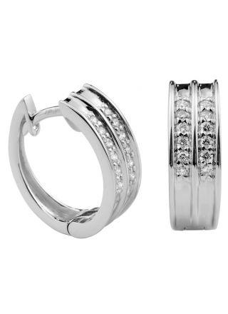 Kohinoor diamantörhängen i 14k vitguld 143-9705V