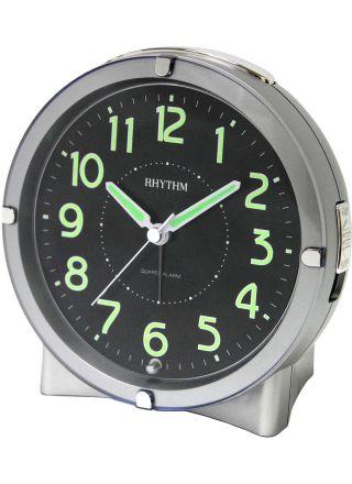 Rhythm Väckarklocka Silver CRE807-NR19