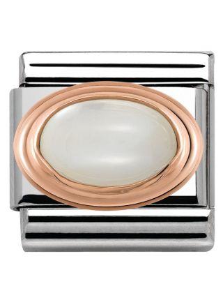 Nomination Rose Gold vit pärla 430501 12