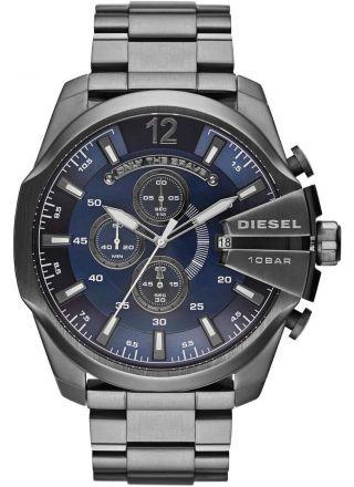 Diesel DZ4329 Mega Chief Blue Dial Gunmetal