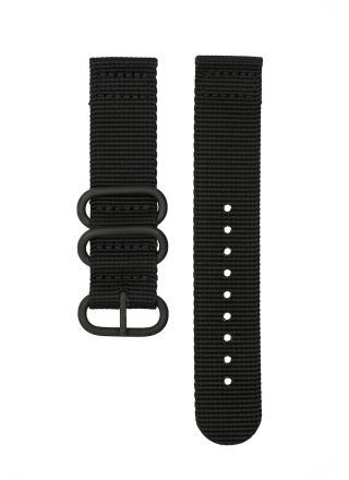 Svart 24 mm nato armband