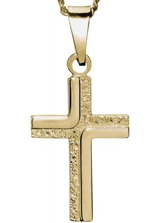 Saurum guld konfirmations kors 7062