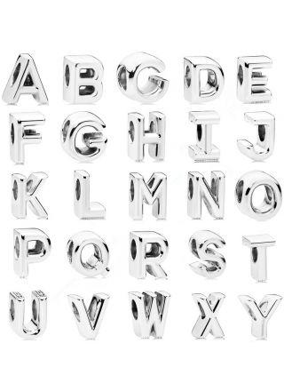 Pandora bokstäver charms