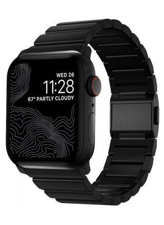 Nomad Titanium Band Black armband 42/44 mm för Apple Watch NM1A41BXT0