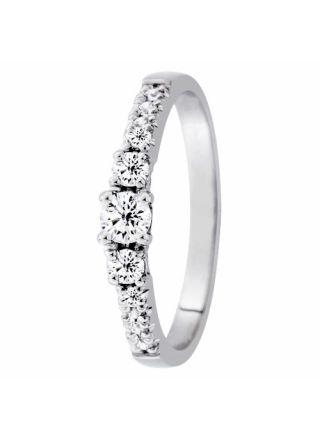 Festive Aurora 505-033-vk diamantring med sidostenar