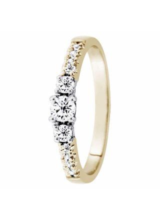 Festive Aurora 505-033-kk diamantring med sidostenar