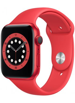 Apple Watch Series 6 GPS + Cellular aluminiumboett i röd 44 mm röd sportband M09C3KS/A