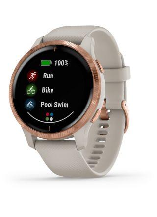 Garmin Venu Light Sand and Rose Gold AMOLED GPS smartklocka 010-02173-22