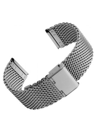 Geckota Classic Style Milanese Mesh Polished Silver stålarmband