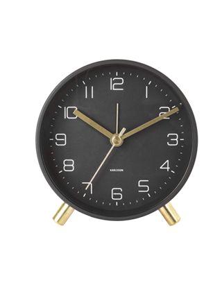 Karlsson Lofty 11 cm svart väckarklocka KA5752BK