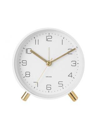 Karlsson Lofty 11 cm vit väckarklocka KA5752WH