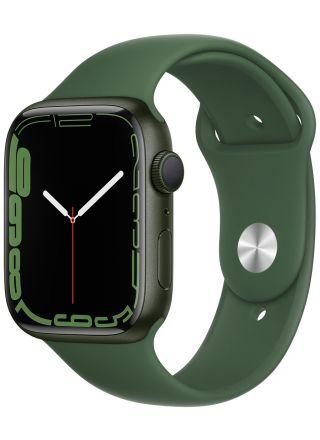 Apple Watch Series 7 GPS grön aluminiumboett 45 mm klöver sportband MKN73KS/A