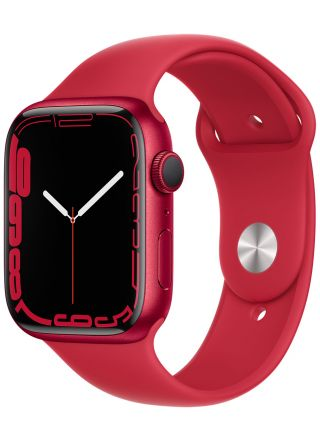 Apple Watch Series 7 GPS (PRODUCT)RED aluminiumboett 45 mm (PRODUCT)RED sportband MKN93KS/A