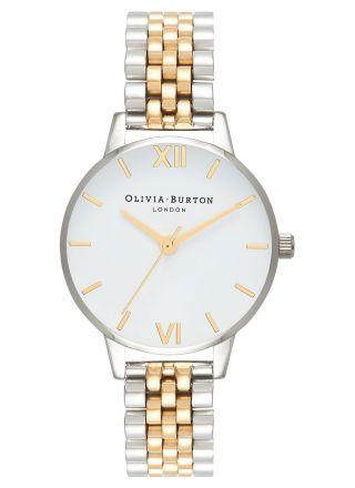 Olivia Burton White Dial Bracelet OB16MDW34