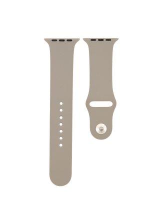 Apple Watch silikonarmband stengrå